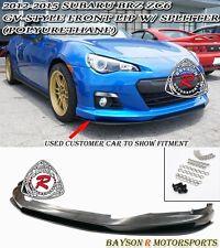 GV-Style Front Lip + Lower Splitter (Urethane) Fits 12-16 Subaru BRZ