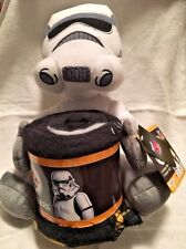 Star Wars Storm Trooper Character Plush Hugger and Throw Set Blanket - Gift