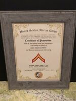 USMC / PRIVATE FIRST CLASS (E-2) ~ Commemorative Promotion Certificate