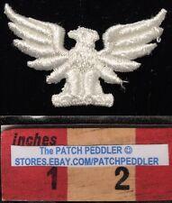WHITE Eagle Patch ~ American Bald Eagle, Bird Emblem Of USA. 2 1/2