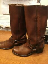 Womens, 6 1/2 D, western boots; brown leather; leather soles; gratis shipping!