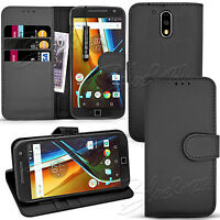 For Motorola Moto G4 Plus -Wallet Leather Case Flip Stand Cover + Touch Stylus