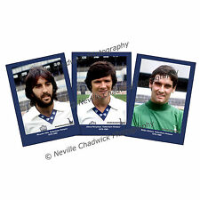 Tottenham Hotspurs, Players of the 70's Collection Portraits, 7x 5 prints 79-80