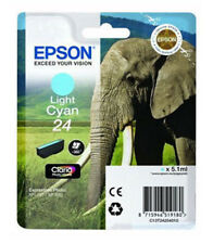 Epson 24 Elephant HD Light Cyan Ink Cartridge C13T24254010 XP-750 XP-850 XP-950