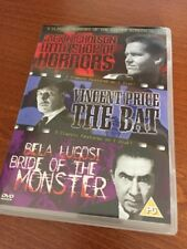 LITTLE SHOP OF HORRORS THE BAT, BRIDE OF THE MONSTER 3 HORROR FILMS ON 1 DVD