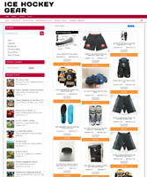 ICE HOCKEY GEAR WEBSITE - ECOMMERCE AT HOME - 1 YEARS HOSTING - NEW DOMAIN