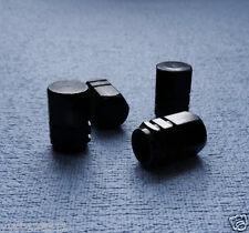Bmw X5 Black Metal Polvo válvula Tapas neumático Rueda de aluminio sólido Hexagonal Tapa