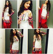 India Stylish Designer Bollywood Punjabi Patiyala White Suit Salwar Dress Women