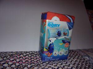 Disney Finding Dory 4 Piece Full Sheet Set / Microfiber Soft Kids Room / New
