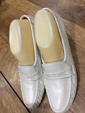 "SAS Tripad Comfort Ivory Beige Loafers 9.5 Footbed 10"" X 3 3/8"""