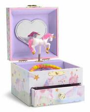Jewelkeeper Girl's Musical Jewelry Storage Box with Spinning Unicorn