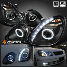 For 1998-2005 Lexus GS300 GS400 JDM Black Projector Headlights+SMD LED