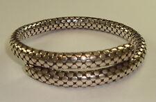 Mens Sterling Silver Spiral Coiled Bracelet by John Hardy, 58 Grams