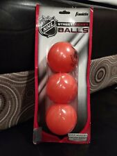 Usa Seller Franklin Sports Nhl Street Hockey Ball 3-Pack US SELLER New