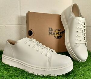 Dr Martens Dante Men's Venice Leather 6 Eye White Shoes Doc Size UK 11 EU 46