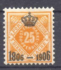 Wuerttemberg, 1906 the 25 Pf. Michel 111, Scott O 11 MNH,