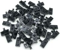 LEGO LOT OF BLACK 1 X 2 STUD PLATES WITH AXLE HOLDER CAR PIECES