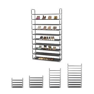 Étagère à chaussures meuble rangement enfichable classeur jusqu'à 50 paires