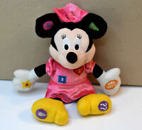 """Disney Minnie Mouse Counting Numbers Talking 10"""" Plush Stuffed Animal"""