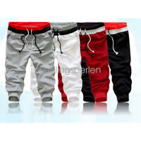 Casual Men Baggy Jogger Trousers Shorts Sports Pants Harem Training Dance BJ