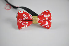 KIDS BOYS Baby 100% Cotton Xmas Christmas Leaf  Bow Tie Bowtie 1-6 Years Old