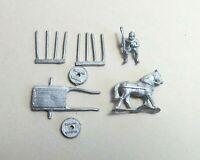 15mm Minifigs ZA606 Medieval Light Horse Cart - OOP Metal Wargame Baggage