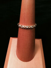 Unique 18KYG Band with Diamonds (with Brushed Gold Floral Detail)