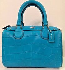 NWT Coach 55455 Baby Bennett Satchel Croc Embossed Faux Leather Turquoise