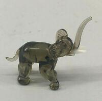99835454 Glas  Glasfigur Elefant  Lauscha mundgeblasen
