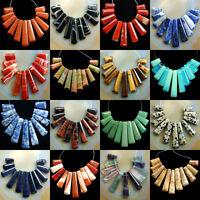Gemstone 11pcs Graduated Pendant Loose Beads Set For Necklace Diy Jewelry Design