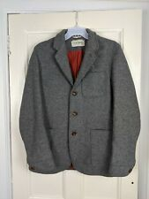 Oliver Spencer Grey Wool Blazer Size 38 - repairs needed