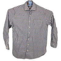 Peter Millar Shirt Mens Size Large L Button Down Long Sleeve Check Plaid Multico