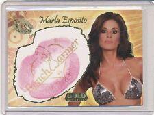 2007 BENCHWARMER GOLD EDITION MARLA ESPOSITO KISS CARD