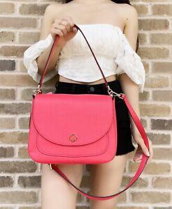 Kate Spade Kailee Medium Flap Shoulder Bag Crossbody Leather Stoplight Red