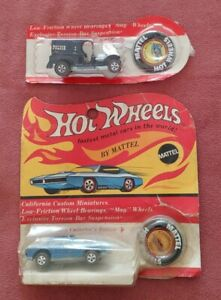 Lot Of 2 1969 Hot Wheels Redlines Paddy Wagon & Mercedes Benz 280SL