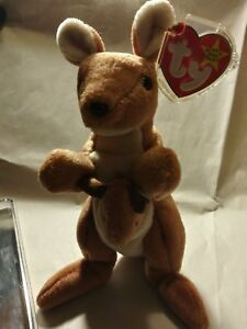 Ty Beanie babies Rare Retired Pouch w Tag Errors 1st EDITION BEST Christmas Gift