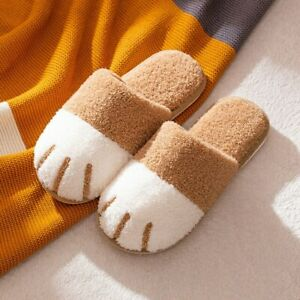 New Cotton Slippers Winter Home Cartoon Cute Cat Claw Warm Indoor Soft-soled