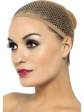 LADIES NUDE MESH UNDER THE WIG CAP STRETCHABLE SKIN COLOUR HAIR NET FANCY DRESS