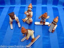 5 X enfants d'Hiver Décoration de Noël pour bricoleur SKIEUR Set 70255 NEUF