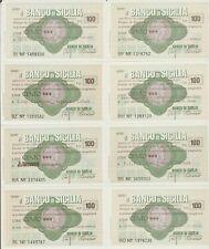 Lotto x46 Miniassegno,Banconote, Il Banco di Sicilia 100,150 Lire Fds [g3]