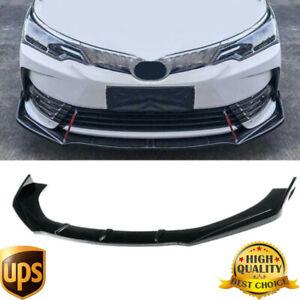 Glossy Black Front Bumper Lip Splitter Spoiler For Toyota Corolla Camry 2009-20