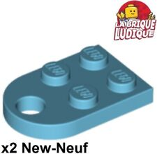 Lego - 2x Plate Modified 3x2 with Hole trou azur moyen/medium azure 3176 NEUF