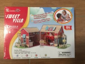 Sweet Villa 3D Puzzle Multifunctional Lights Up 84 Pieces Ages 8+ NEW & SEALED