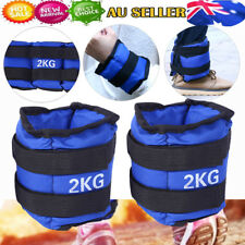 1 Pair Adjustable Ankle Weights Fill Iron Sand Gym Equipment Wrist Fitness Yoga 4kg Pair