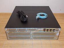 Cisco 3925E-V/K9 Voice SL-39-UC-K9 Lic SPE200 ISR2 Router 1GB RAM 1xPWR