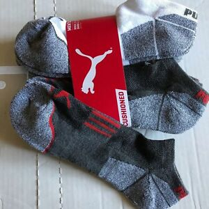 Puma Coolcell Cushioned Ankle Socks Mens 10-13 6pk