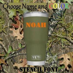 """Stencil vinyl decal for Tumblers,Ramblers,Cups Sticker, Personalized Name  3"""""""