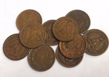 10 x Mexico One Centavo coins, vintage bronze 1905-1949 type KM#415 Mixed Lot