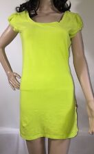 Tripp T-Shirt Dress Small Hot Topic Solid Fluorescent Green Bright Casual Sexy
