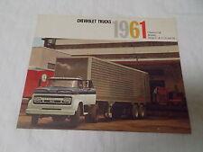 1961 Chevrolet Truck, Chassis-Cab Models C & L 70 & 90 Original Color Brochure